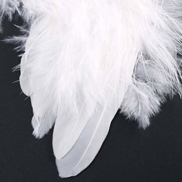 10 St. Engelsflügel Federn Flügel Engel Anhänger Weihnachten Christbaumschmuck Baby Taufe Deko DIY Basteln Kinder 16cm Weiß - 2