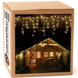 12 m Eisregen Lichterkette mit 480 LED warmweiß für aussen - 1