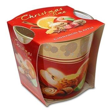 12er Set Duftkerzen Christmas Time Cinnemon Apple & Cinnemon Orange Apfel-Zimt & Orange-Zimt, Duftglas, Weihnachtskerze, Raumduft - 2