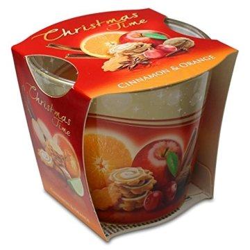 12er Set Duftkerzen Christmas Time Cinnemon Apple & Cinnemon Orange Apfel-Zimt & Orange-Zimt, Duftglas, Weihnachtskerze, Raumduft - 3