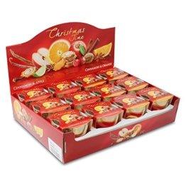 12er Set Duftkerzen Christmas Time Cinnemon Apple & Cinnemon Orange Apfel-Zimt & Orange-Zimt, Duftglas, Weihnachtskerze, Raumduft - 1