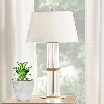 15,2 cm Kunststoff-Blumentöpfe für den Innenbereich, Set von 5 modernen dekorativen Gartenbehältern für Sukkulenten, Blumen, Kräuter, Kaktus, Haus und Büro Dekor Modern 01-weiß - 4