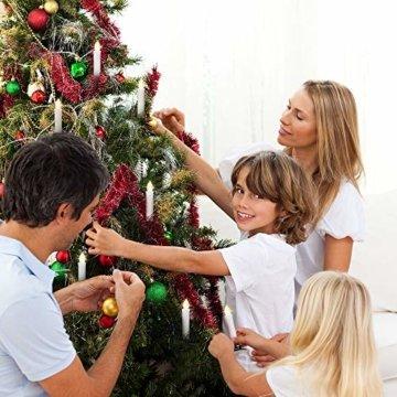 30 LED Kerzen, Weihnachtskerzen Lichterkette, Weihnachts Kerzen Kabellos mit Fernbedienung,Dimmbar Kerzenlichter Flammenlose Weihnachtskerzen für Weihnachtsbaum, Weihnachtsdeko, Hochzeit, Party - 2