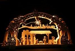 3D Schwibbogen Christi Geburt mit Krippefiguren der FA. Ulmik Seiffen/Erzgebirge - 1