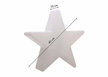 8 seasons design   Dekorative Leuchte Stern Shining Star Mini (E27, Ø 40 cm, für außen & innen: Garten, Balkon, Wohn- & Esszimmer, Kinderzimmer) weiß - 3