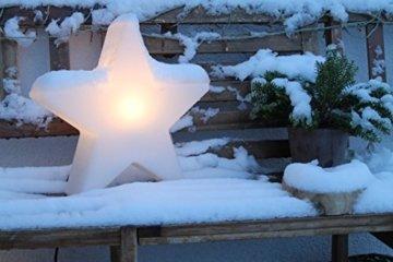 8 seasons design   Dekorative Leuchte Stern Shining Star Mini (E27, Ø 40 cm, für außen & innen: Garten, Balkon, Wohn- & Esszimmer, Kinderzimmer) weiß - 4