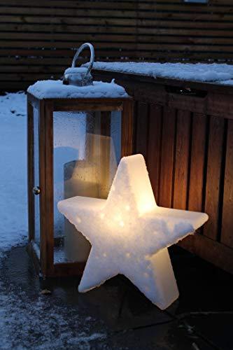 8 seasons design   Dekorative Leuchte Stern Shining Star Mini (E27, Ø 40 cm, für außen & innen: Garten, Balkon, Wohn- & Esszimmer, Kinderzimmer) weiß - 5