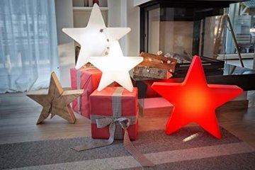 8 seasons design   Dekorative Leuchte Stern Shining Star Mini (E27, Ø 40 cm, für außen & innen: Garten, Balkon, Wohn- & Esszimmer, Kinderzimmer) weiß - 6