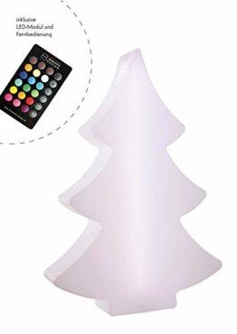 8 seasons design | LED Leuchtender Weihnachtsbaum Shining Tree (113 cm groß, 15 Farben, Farbwechsel, IP44, Weihnachtsdeko für Haus & Garten) - 1