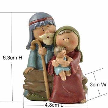 AIJOAN-BJ Tierfiguren & Tierstatuen Statuen Dekoration Polyresin Jesus Heilige Familie Mini Jesus Geboren Krippe Figur 2.48