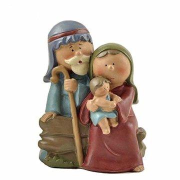 """AIJOAN-BJ Tierfiguren & Tierstatuen Statuen Dekoration Polyresin Jesus Heilige Familie Mini Jesus Geboren Krippe Figur 2.48""""Groß - 1"""