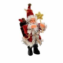 AMUSTER Weihnachtsmann Weihnachtsdeko Weihnachtsfigur Weihnachtsbaum Dekor Weihnachtsmann Ornamente Xmas Decor Party Decor 16/22cm - 1