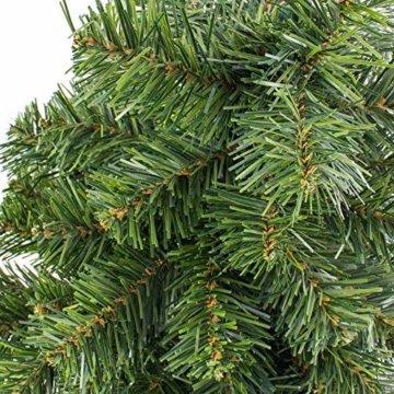 artplants.de Mini Weihnachtsbaum WARSCHAU, grün, rot, 60cm, Ø 40cm - Plastik Tannenbaum - 6