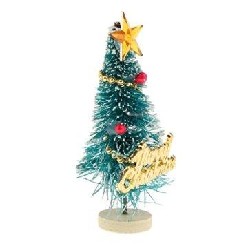 Baoblaze 1/12 Puppenhaus Pupenstuben Mini Weihnachtsbaum für Weihnachten Dekoration - 4