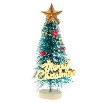 Baoblaze 1/12 Puppenhaus Pupenstuben Mini Weihnachtsbaum für Weihnachten Dekoration - 1