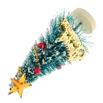 Baoblaze 1/12 Puppenhaus Pupenstuben Mini Weihnachtsbaum für Weihnachten Dekoration - 5