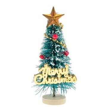 Baoblaze 1/12 Puppenhaus Pupenstuben Mini Weihnachtsbaum für Weihnachten Dekoration - 6