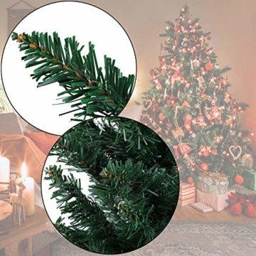 BB Sport Christbaum Weihnachtsbaum PVC Tannenbaum Künstlich Standfuß Klappsystem, Farbe:Mittelgrün, Höhe:150 cm - 2