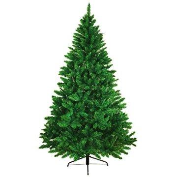 BB Sport Christbaum Weihnachtsbaum PVC Tannenbaum Künstlich Standfuß Klappsystem, Farbe:Mittelgrün, Höhe:150 cm - 3