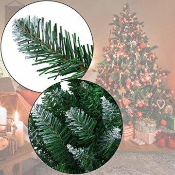 BB Sport Christbaum Weihnachtsbaum PVC Tannenbaum Künstlich Standfuß Klappsystem, Farbe:Mittelgrün, Höhe:150 cm - 4
