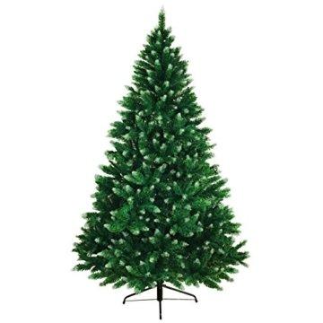 BB Sport Christbaum Weihnachtsbaum PVC Tannenbaum Künstlich Standfuß Klappsystem, Farbe:Mittelgrün, Höhe:150 cm - 5