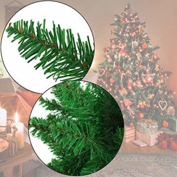 BB Sport Christbaum Weihnachtsbaum PVC Tannenbaum Künstlich Standfuß Klappsystem, Farbe:Mittelgrün, Höhe:150 cm - 7