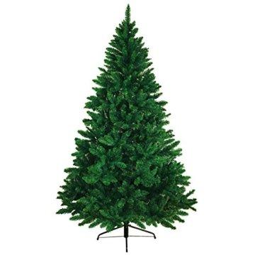BB Sport Christbaum Weihnachtsbaum PVC Tannenbaum Künstlich Standfuß Klappsystem, Farbe:Mittelgrün, Höhe:150 cm - 8