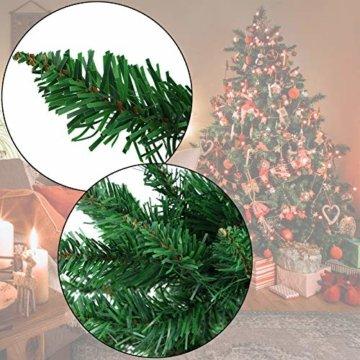 BB Sport Christbaum Weihnachtsbaum PVC Tannenbaum Künstlich Standfuß Klappsystem, Farbe:Mittelgrün, Höhe:150 cm - 9