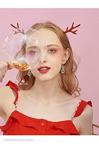 BESTEEL 8 Paare Edelstahl Weihnachten Ohrringe für Herren Damen Mädchen Kinder Baumeln Süß Fest Urlaub Weihnachtsmann Schneeflocke Schneemann Rentier Geschenk - 3