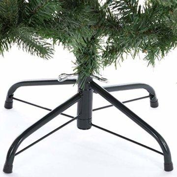 Casaria Weihnachtsbaum 140 cm Metallständer künstlicher Tannenbaum Christbaum Baum Tanne Spritzguss Christbaumständer Mix PE PVC - 3