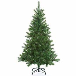 Casaria Weihnachtsbaum 140 cm Metallständer künstlicher Tannenbaum Christbaum Baum Tanne Spritzguss Christbaumständer Mix PE PVC - 1