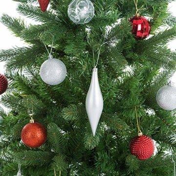 Casaria Weihnachtsbaum 140 cm Metallständer künstlicher Tannenbaum Christbaum Baum Tanne Spritzguss Christbaumständer Mix PE PVC - 4