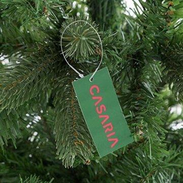 Casaria Weihnachtsbaum 140 cm Metallständer künstlicher Tannenbaum Christbaum Baum Tanne Spritzguss Christbaumständer Mix PE PVC - 5