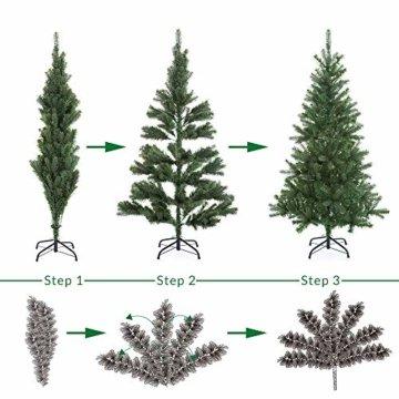 Casaria Weihnachtsbaum 140 cm Metallständer künstlicher Tannenbaum Christbaum Baum Tanne Spritzguss Christbaumständer Mix PE PVC - 6