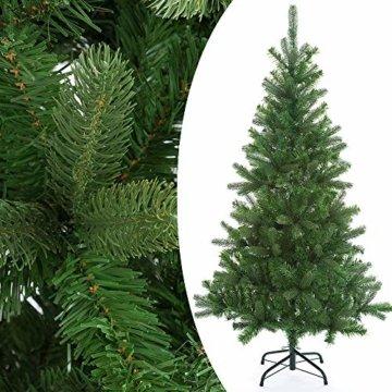 Casaria Weihnachtsbaum 140 cm Metallständer künstlicher Tannenbaum Christbaum Baum Tanne Spritzguss Christbaumständer Mix PE PVC - 7