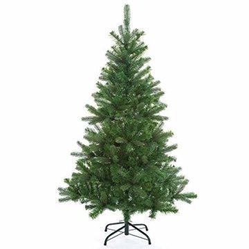 Casaria Weihnachtsbaum 140 cm Metallständer künstlicher Tannenbaum Christbaum Baum Tanne Spritzguss Christbaumständer Mix PE PVC - 8