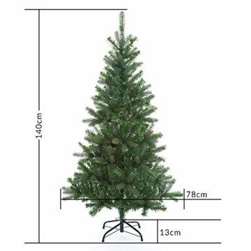 Casaria Weihnachtsbaum 140 cm Metallständer künstlicher Tannenbaum Christbaum Baum Tanne Spritzguss Christbaumständer Mix PE PVC - 9