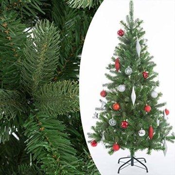 Casaria Weihnachtsbaum 140 cm Metallständer künstlicher Tannenbaum Christbaum Baum Tanne Spritzguss Christbaumständer Mix PE PVC - 10