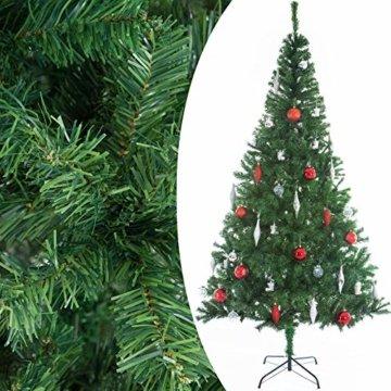 Casaria Weihnachtsbaum 150 cm Ständer künstlicher Tannenbaum Christbaum Baum Tanne Weihnachten Christbaumständer PVC Grün - 2