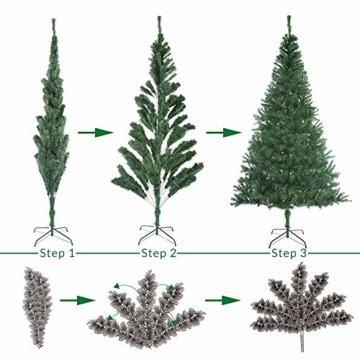 Casaria Weihnachtsbaum 150 cm Ständer künstlicher Tannenbaum Christbaum Baum Tanne Weihnachten Christbaumständer PVC Grün - 3