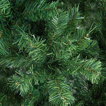 Casaria Weihnachtsbaum 150 cm Ständer künstlicher Tannenbaum Christbaum Baum Tanne Weihnachten Christbaumständer PVC Grün - 4