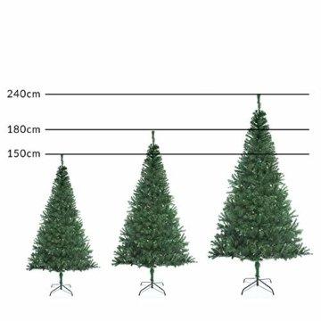 Casaria Weihnachtsbaum 150 cm Ständer künstlicher Tannenbaum Christbaum Baum Tanne Weihnachten Christbaumständer PVC Grün - 6