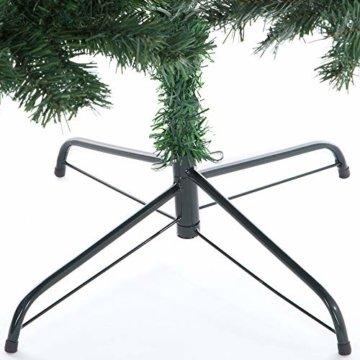 Casaria Weihnachtsbaum 150 cm Ständer künstlicher Tannenbaum Christbaum Baum Tanne Weihnachten Christbaumständer PVC Grün - 7