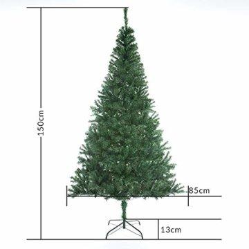 Casaria Weihnachtsbaum 150 cm Ständer künstlicher Tannenbaum Christbaum Baum Tanne Weihnachten Christbaumständer PVC Grün - 8