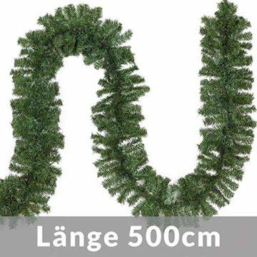 Casaria Weihnachtsgirlande I 5m I 100 LED's I In- & Outdoor I Tannengirlande Tannenzweiggirlande Weihnachtsdeko - 2