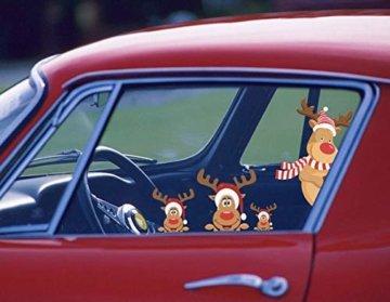CheChury Netter Weihnachtsmann Weihnachten selbstklebend Fensterdeko Weihnachtsdeko Sterne Weihnachts Rentier Aufkleber Schneeflocken Aufkleber Winter Dekoration Weihnachtsdeko Weihnachten Removable - 5