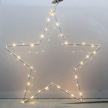 CMYK® 2 Stück LED Weihnachtsstern Beleuchtung mit 40 warmweißen LEDs batteriebetrieben - 2