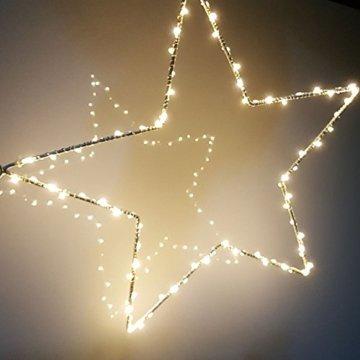 CMYK® 2 Stück LED Weihnachtsstern Beleuchtung mit 40 warmweißen LEDs batteriebetrieben - 3
