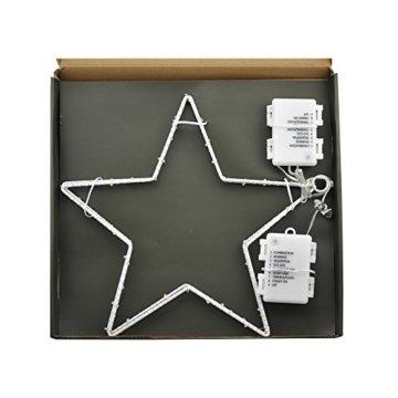 CMYK® 2 Stück LED Weihnachtsstern Beleuchtung mit 40 warmweißen LEDs batteriebetrieben - 6