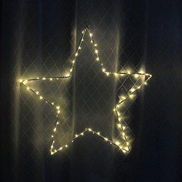 CMYK® 2 Stück LED Weihnachtsstern Beleuchtung mit 40 warmweißen LEDs batteriebetrieben - 7
